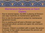 maintenance agreements on savin copiers