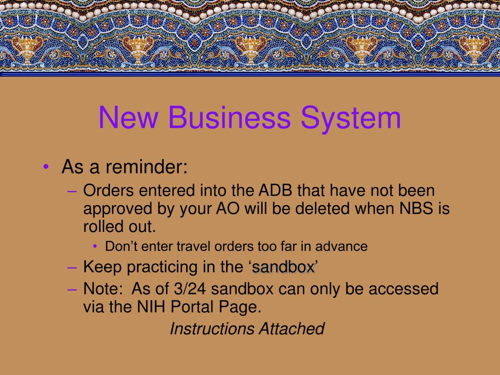 New Business System