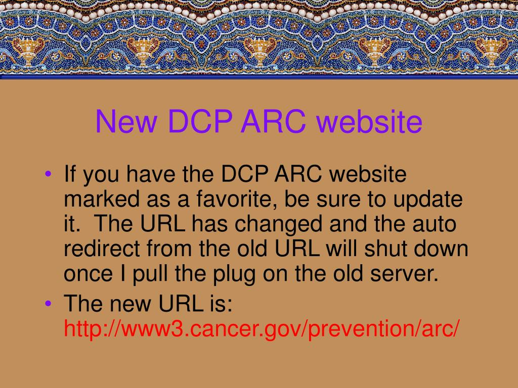 New DCP ARC website