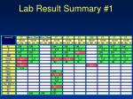 lab result summary 1