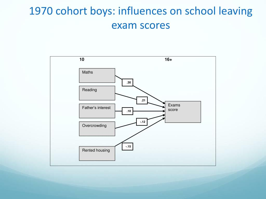 1970 cohort boys: influences on school leaving exam scores