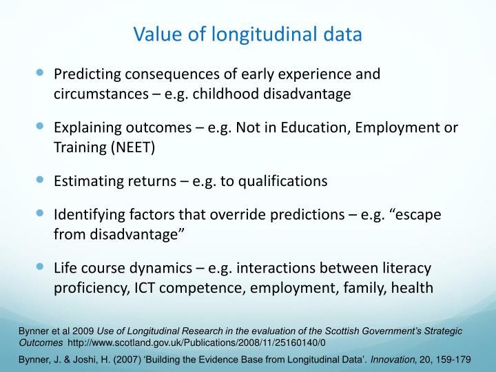 Value of longitudinal data
