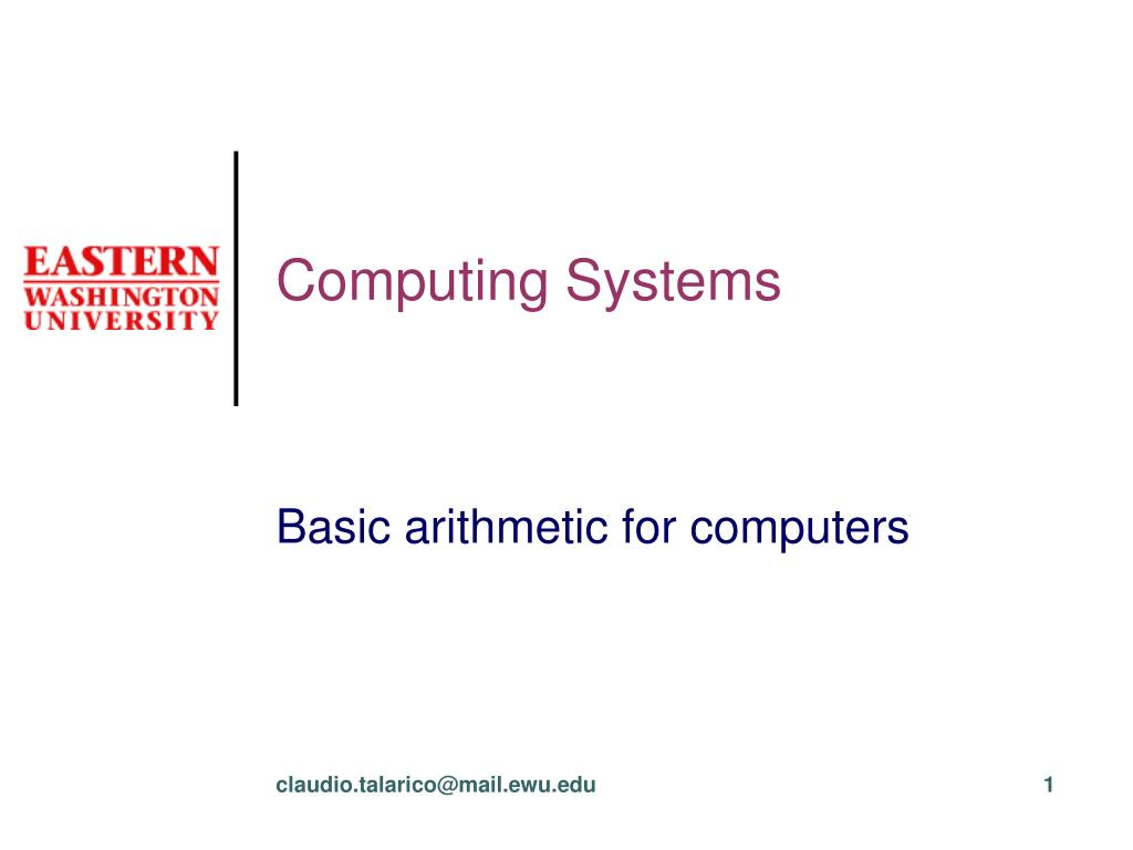 computing systems l.