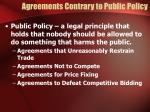 agreements contrary to public policy