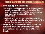 characteristics of consideration cont
