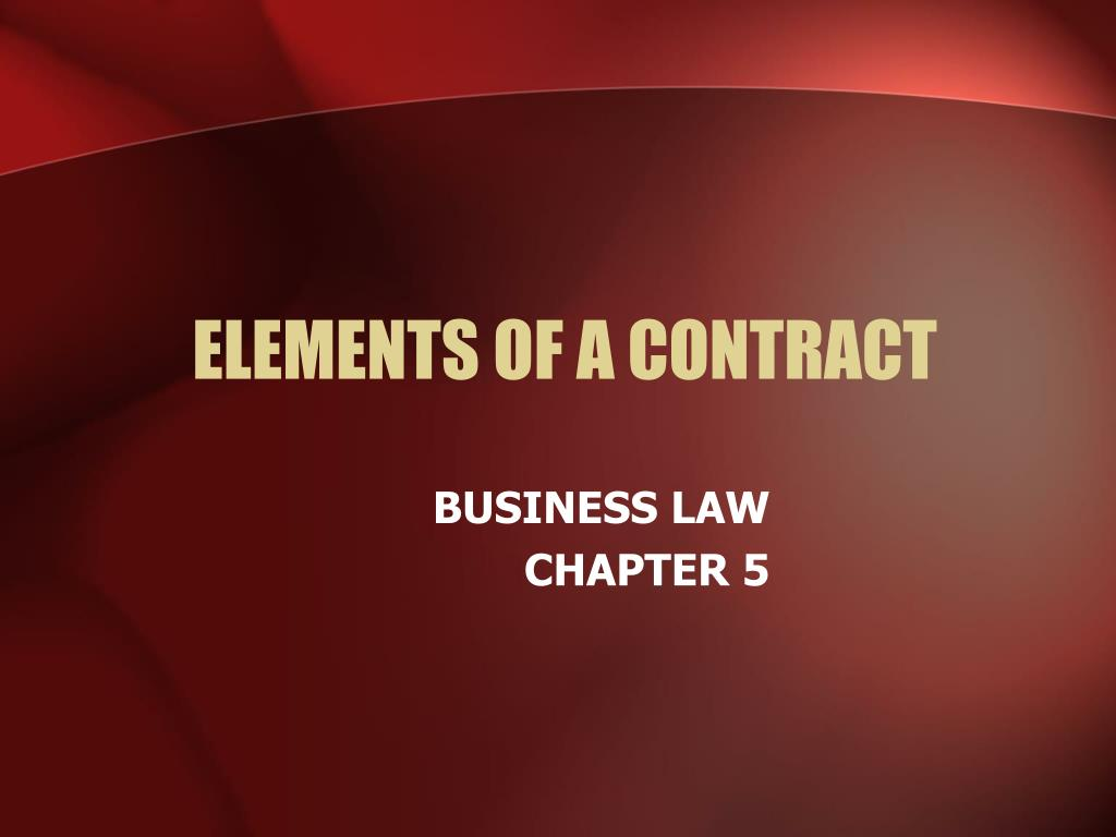 elements of a contract l.