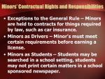 minors contractual rights and responsibilities