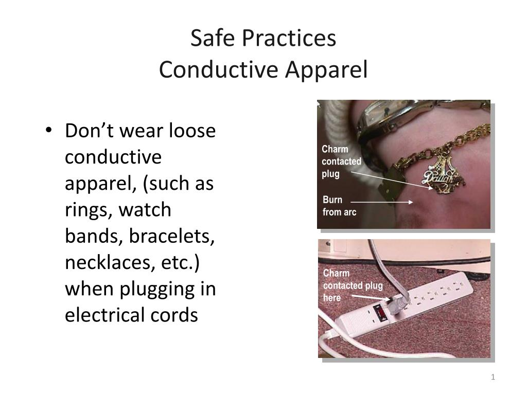 safe practices conductive apparel l.