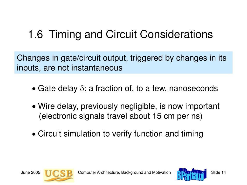 1.6  Timing and Circuit Considerations