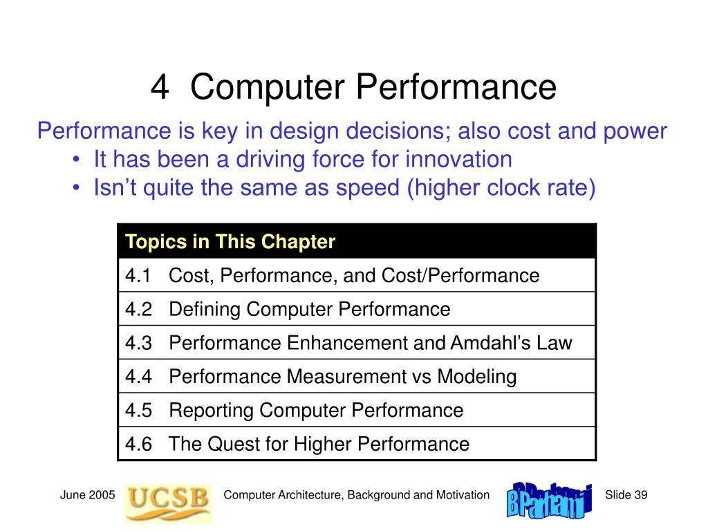 4  Computer Performance