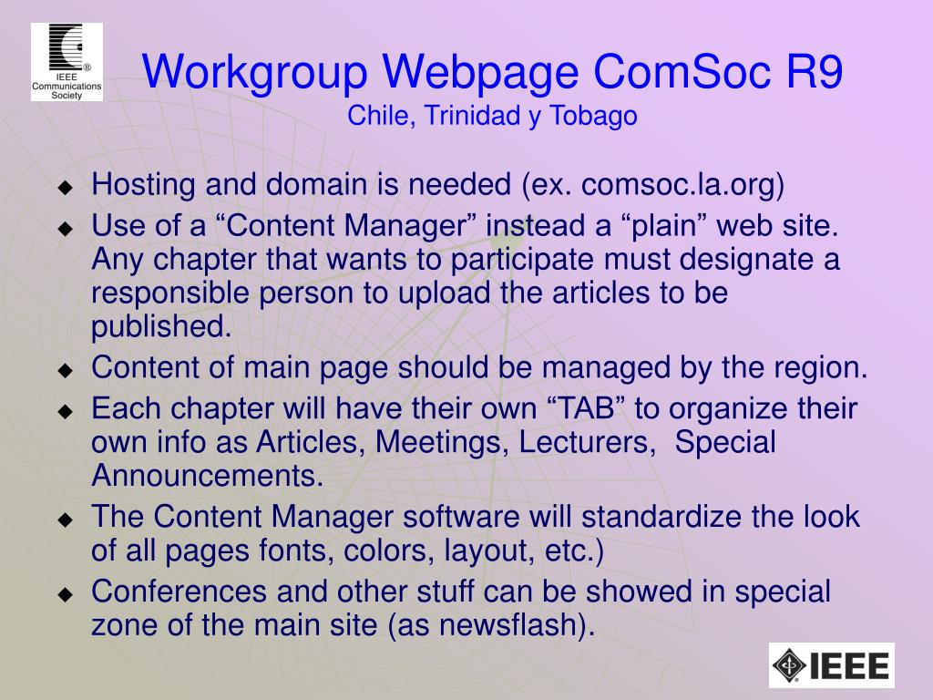 Workgroup Webpage ComSoc R9