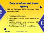 duty to inform and travel agency9