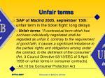 unfair terms