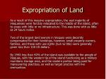 expropriation of land
