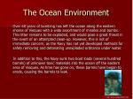 the ocean environment