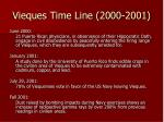 vieques time line 2000 2001