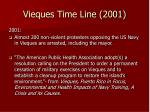 vieques time line 2001