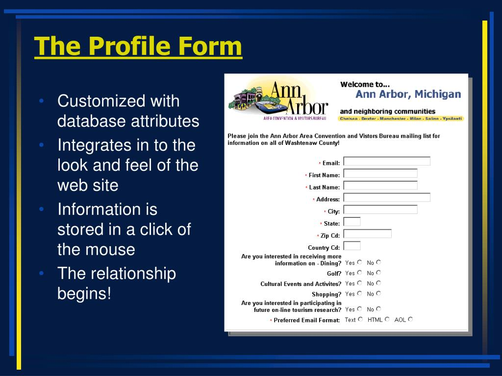 The Profile Form