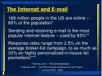 the internet and e mail