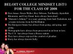 beloit college mindset list for the class of 2008