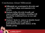 conclusions about millennials