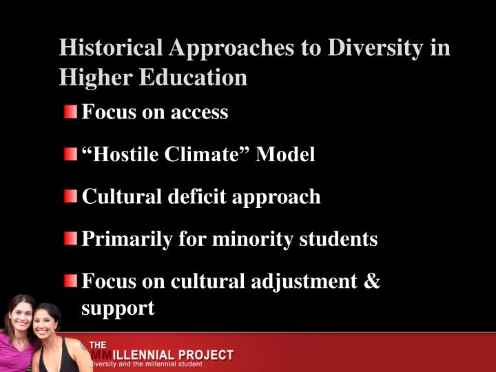 Historical approaches to diversity in higher education
