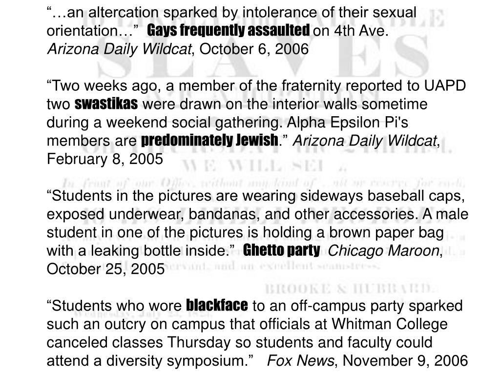 """""""…an altercation sparked by intolerance of their sexual orientation…"""""""