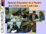 special education to a parent and child could look like