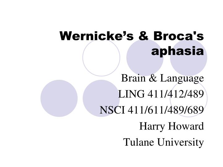 wernicke s broca s aphasia n.