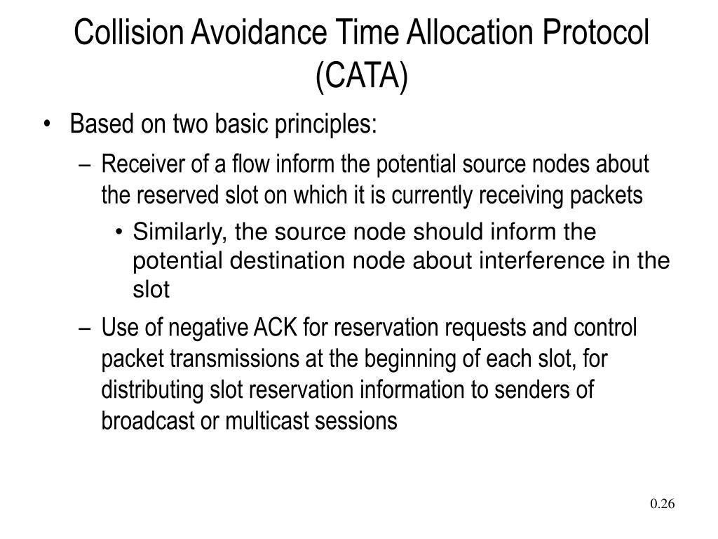 Collision Avoidance Time Allocation Protocol (CATA)