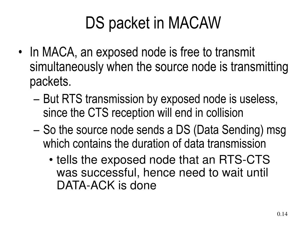 DS packet in MACAW
