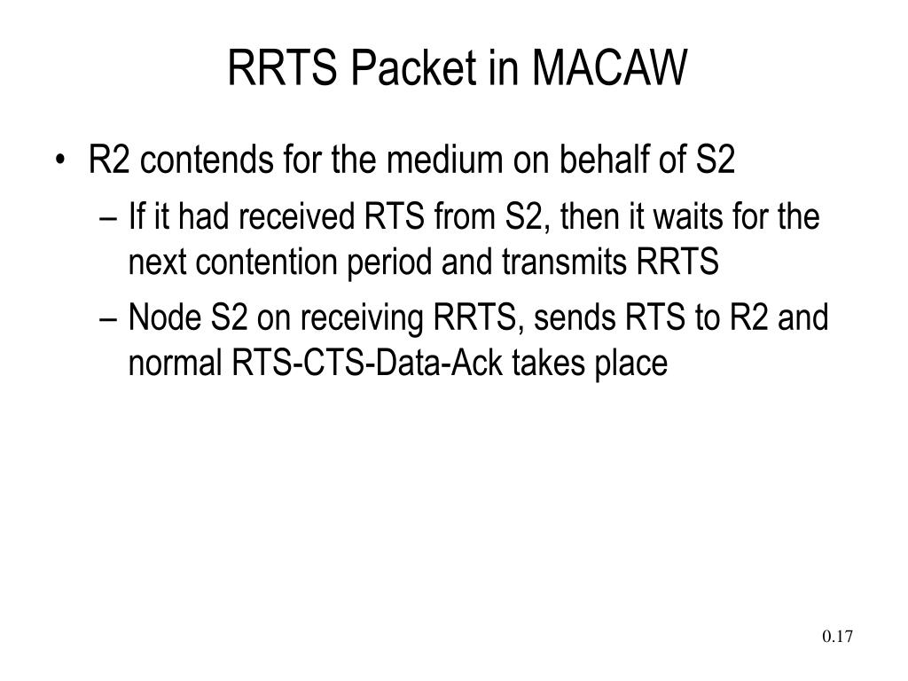 RRTS Packet in MACAW