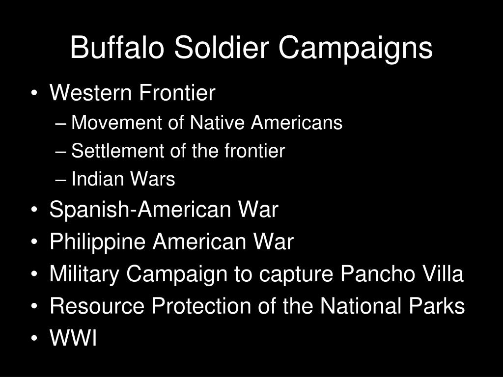 Buffalo Soldier Campaigns