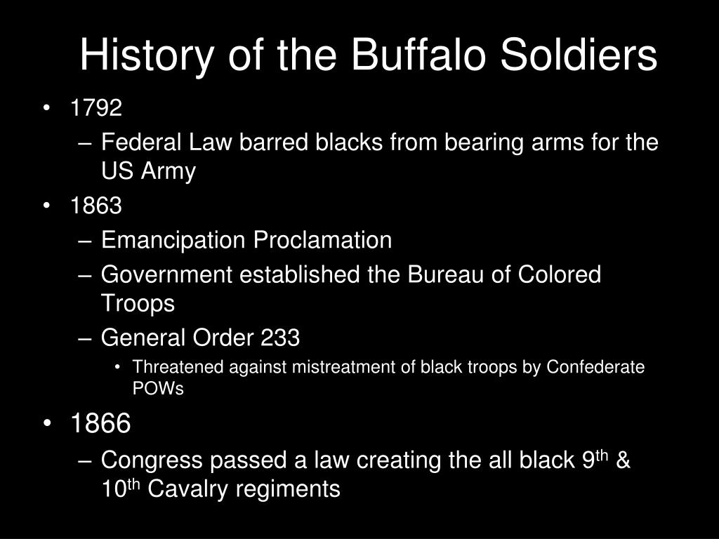 History of the Buffalo Soldiers