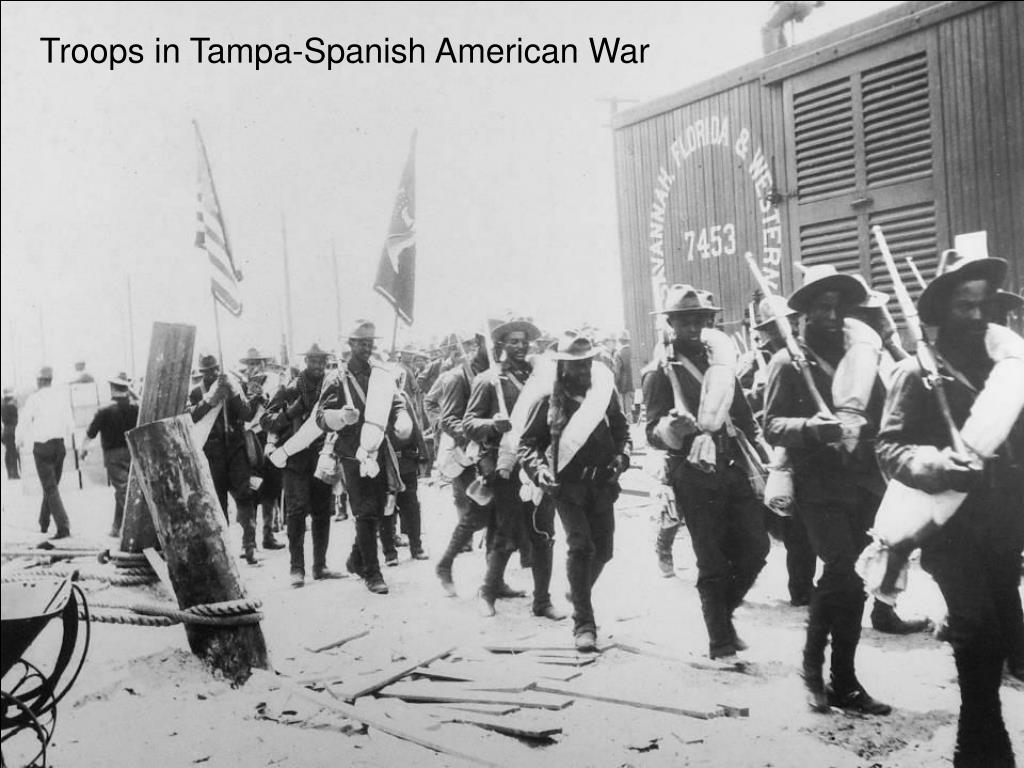 Troops in Tampa-Spanish American War