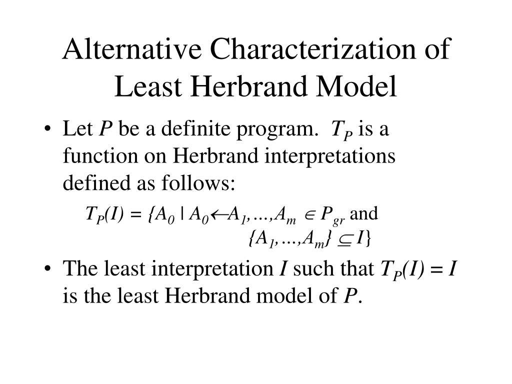 Alternative Characterization of Least Herbrand Model