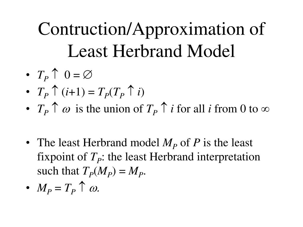 Contruction/Approximation of Least Herbrand Model