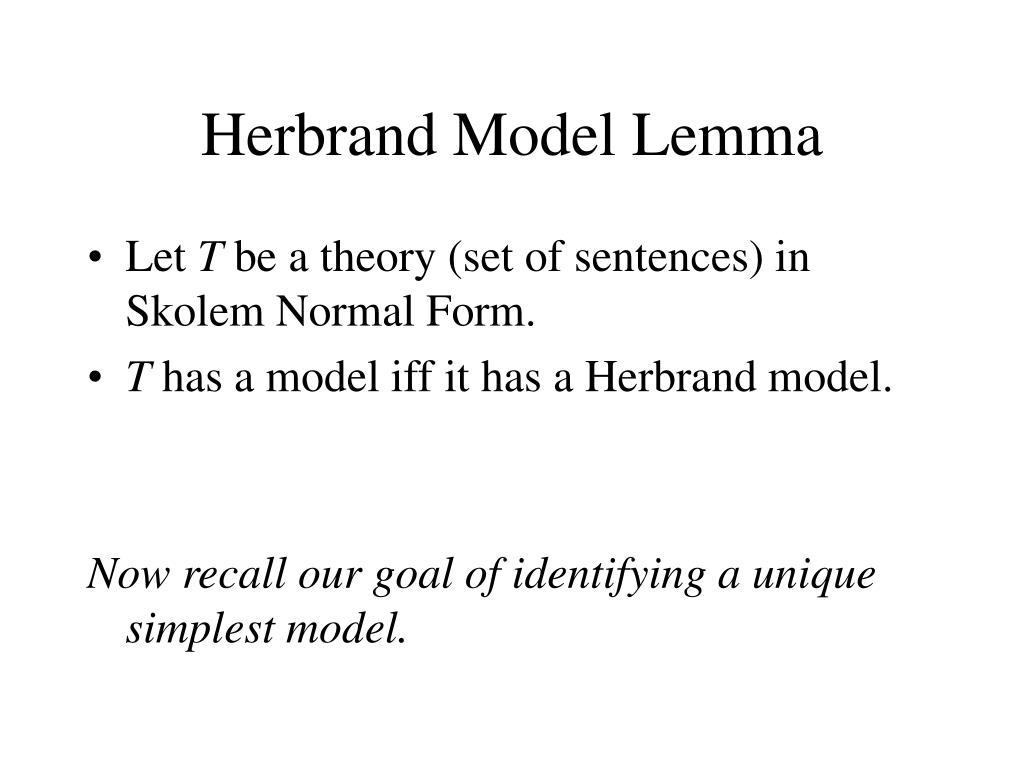 Herbrand Model Lemma