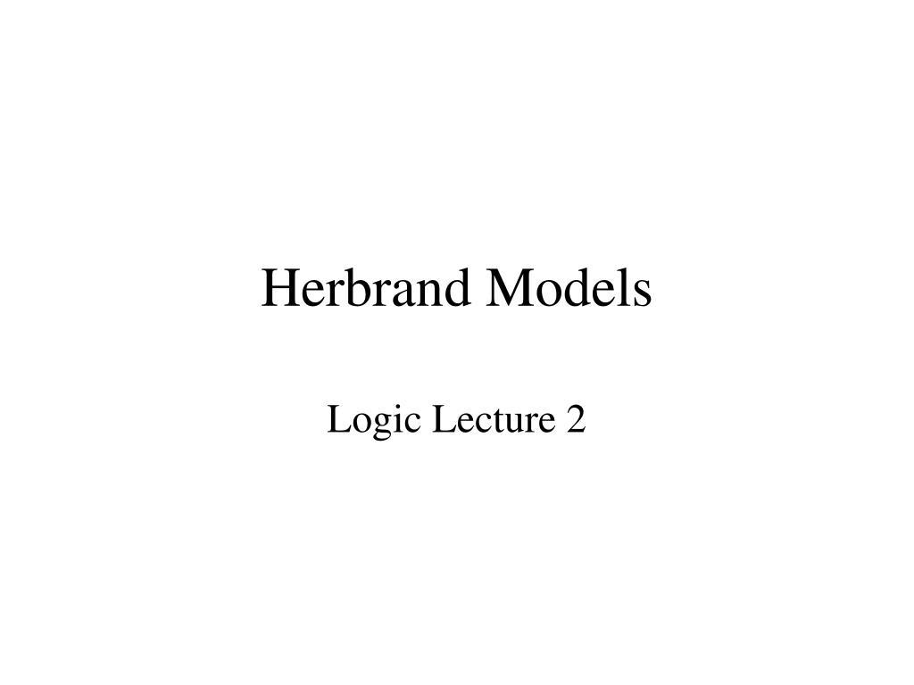 herbrand models l.