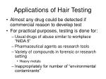 applications of hair testing