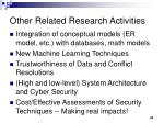 other related research activities