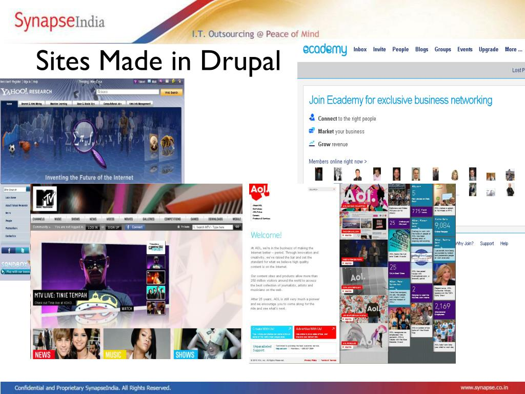 Sites Made in Drupal