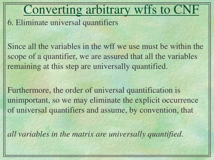 Converting arbitrary wffs to cnf2