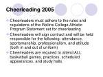 cheerleading 2005