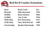 red devil coaches extensions21