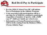 red devil pay to participate