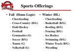 sports offerings