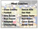 head coaches