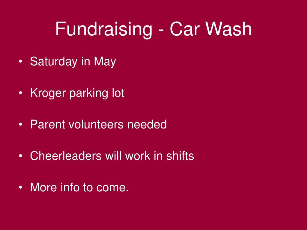 Fundraising - Car Wash