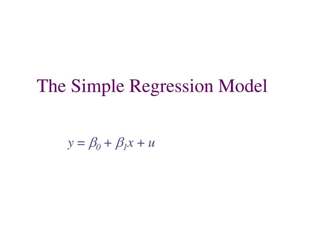 the simple regression model l.